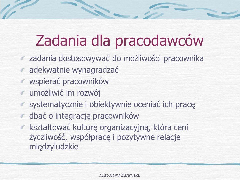 Mirosława Żurawska Jak sobie radzić z wypaleniem? ustalaj realistyczne cele unikaj rutyny, rób te same rzeczy w inny sposób Intensywnie pracuj i... ró