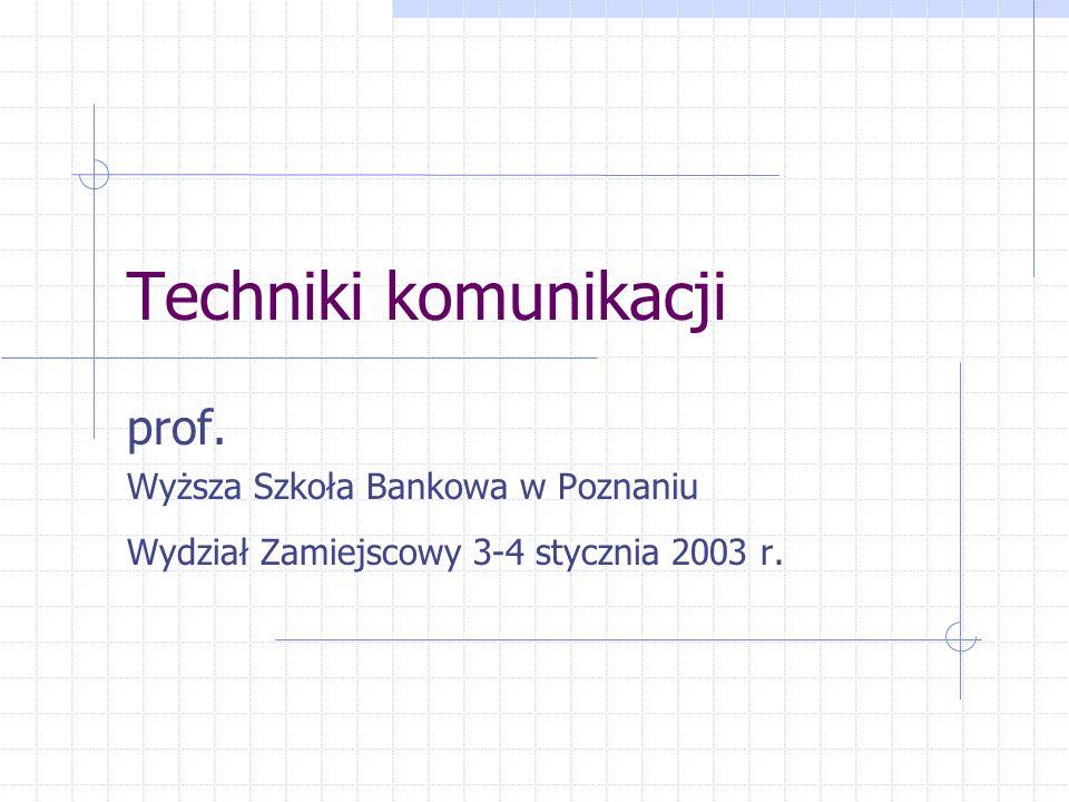 Techniki komunikacji prof.
