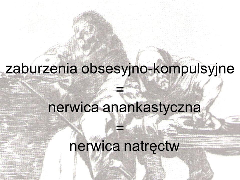 zaburzenia obsesyjno-kompulsyjne = nerwica anankastyczna = nerwica natręctw