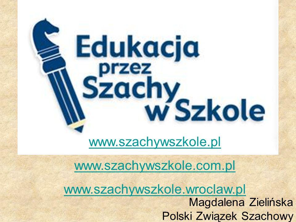 Magdalena Zielińska Polski Związek Szachowy www.szachywszkole.pl www.szachywszkole.com.pl www.szachywszkole.wroclaw.pl