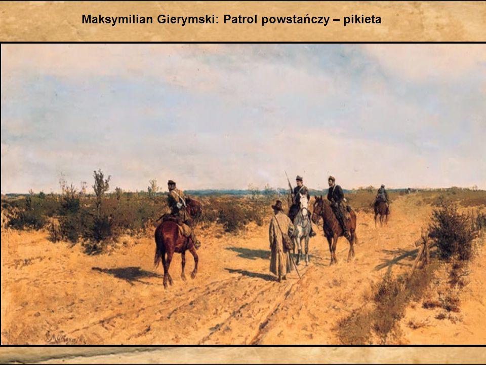 Józef Chełmoński: Kuropatwy na śniegu Metafora polskiego tułactwa, wizja zesłańców powstania styczniowego na Sybir.