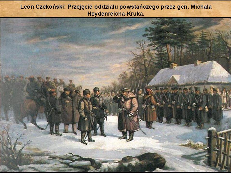 Leon Czekoński: Przejęcie oddziału powstańczego przez gen. Michała Heydenreicha-Kruka.