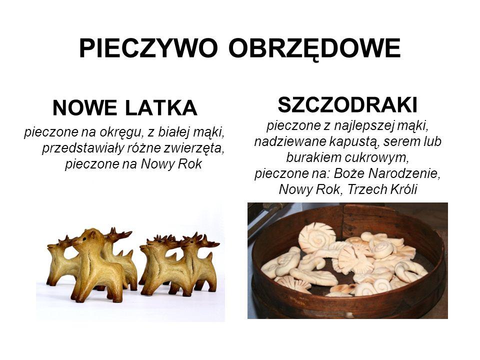 NOWE LATKA pieczone na okręgu, z białej mąki, przedstawiały różne zwierzęta, pieczone na Nowy Rok PIECZYWO OBRZĘDOWE SZCZODRAKI pieczone z najlepszej