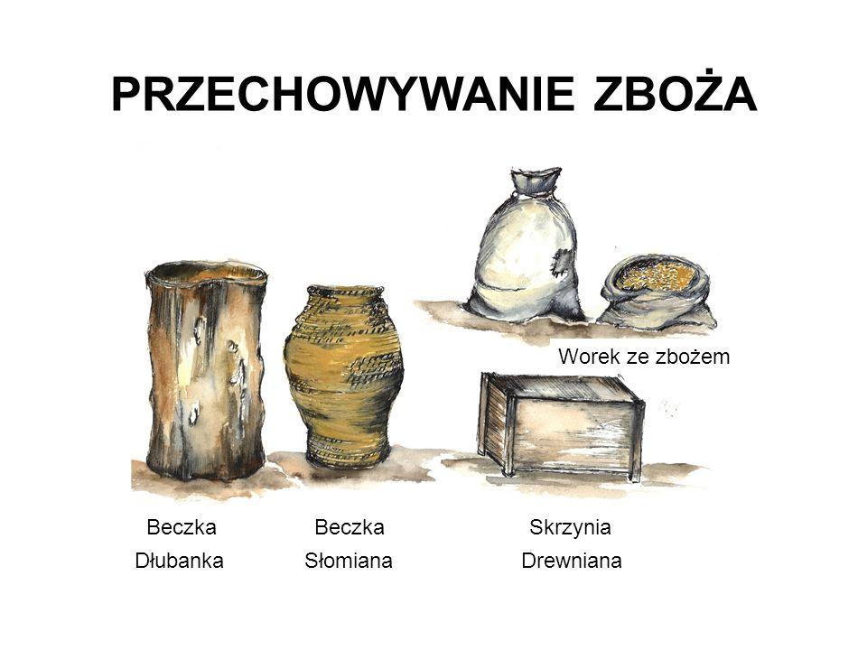 Beczka Beczka Skrzynia Dłubanka Słomiana Drewniana Worek ze zbożem PRZECHOWYWANIE ZBOŻA