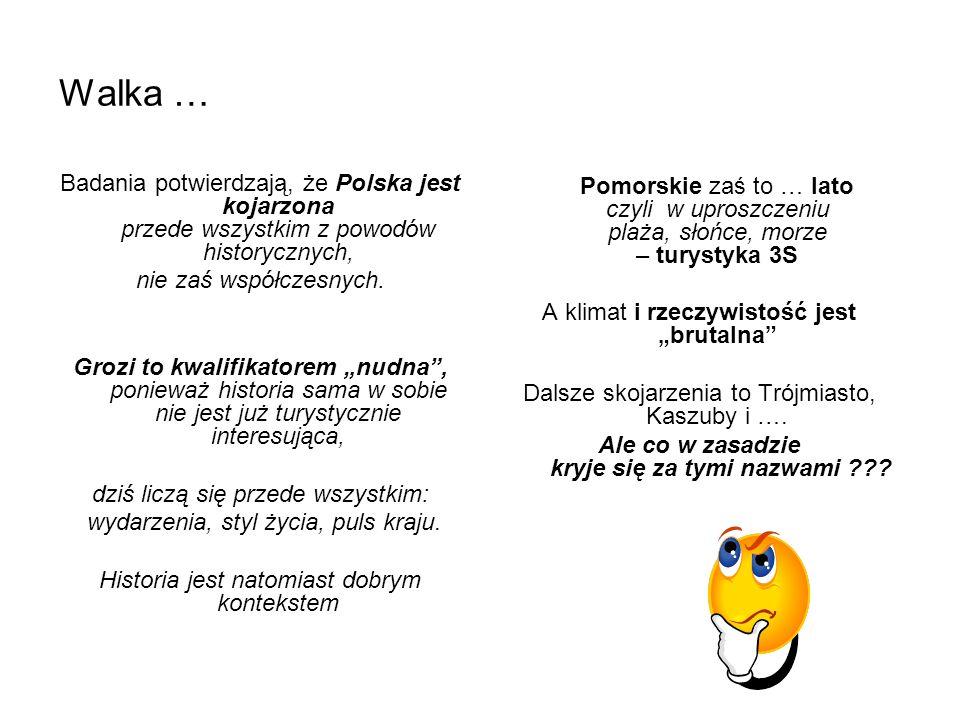 Walka … Badania potwierdzają, że Polska jest kojarzona przede wszystkim z powodów historycznych, nie zaś współczesnych. Grozi to kwalifikatorem nudna,