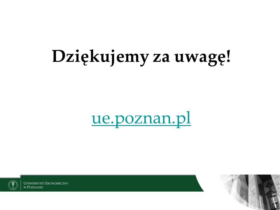 Dziękujemy za uwagę! ue.poznan.pl