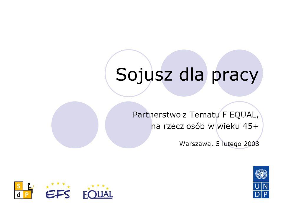 Sojusz dla pracy Partnerstwo z Tematu F EQUAL, na rzecz osób w wieku 45+ Warszawa, 5 lutego 2008