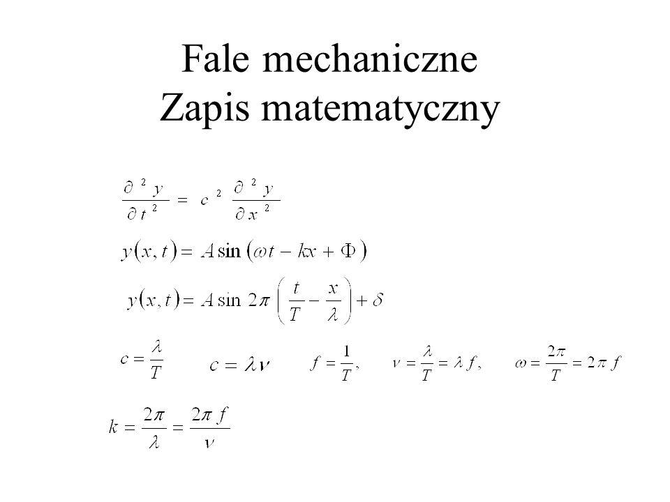 Moc fali = Energia jednej długości.częstość (l.fal/s) = m - masa na jedn.