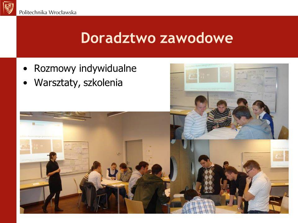 Doradztwo zawodowe Rozmowy indywidualne Warsztaty, szkolenia