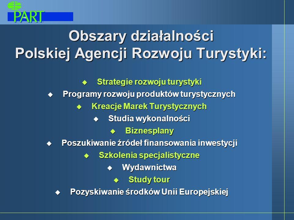 Grupy docelowe PART S.A. Samorząd terytorialny wszystkich szczebli Branża turystyczna Inwestorzy krajowi i zagraniczni