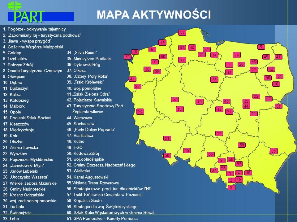 Projekty wspierające branżę turystyczną System Polskich Bonów Turystycznych Strategia rozwoju turystyki na lata 2007-2013 Zapisy dotyczące przemysłu turystycznego w dokumentach operacyjnych NPR Doradztwo prawne i ekonomiczne dla organizacji turystycznych