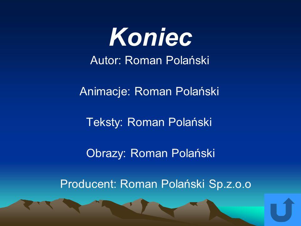 Koniec Autor: Roman Polański Animacje: Roman Polański Teksty: Roman Polański Obrazy: Roman Polański Producent: Roman Polański Sp.z.o.o