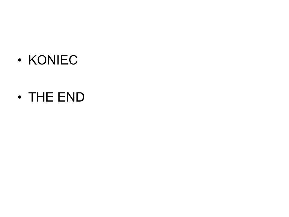 KONIEC THE END