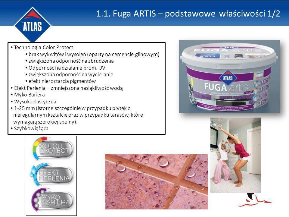 Technologia Color Protect brak wykwitów i wysoleń (oparty na cemencie glinowym) zwiększona odporność na zbrudzenia Odporność na działanie prom. UV zwi