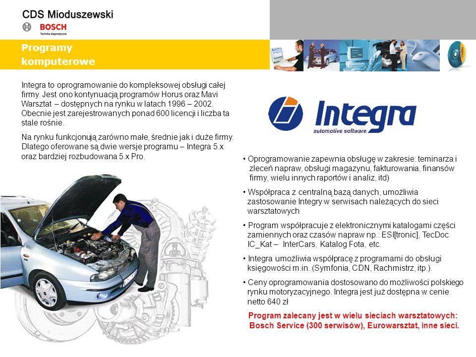 Integra to oprogramowanie do kompleksowej obsługi całej firmy. Jest ono kontynuacją programów Horus oraz Mavi Warsztat – dostępnych na rynku w latach