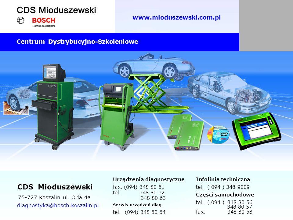 Urządzenia diagnostyczne fax. (094) 348 80 61 tel. 348 80 62 348 80 63 Serwis urządzeń diag. tel. (094) 348 80 64 Infolinia techniczna tel. ( 094 ) 34