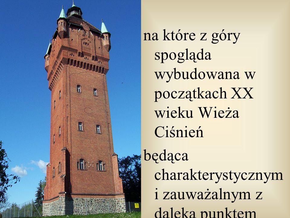 na które z góry spogląda wybudowana w początkach XX wieku Wieża Ciśnień będąca charakterystycznym i zauważalnym z daleka punktem widokowym
