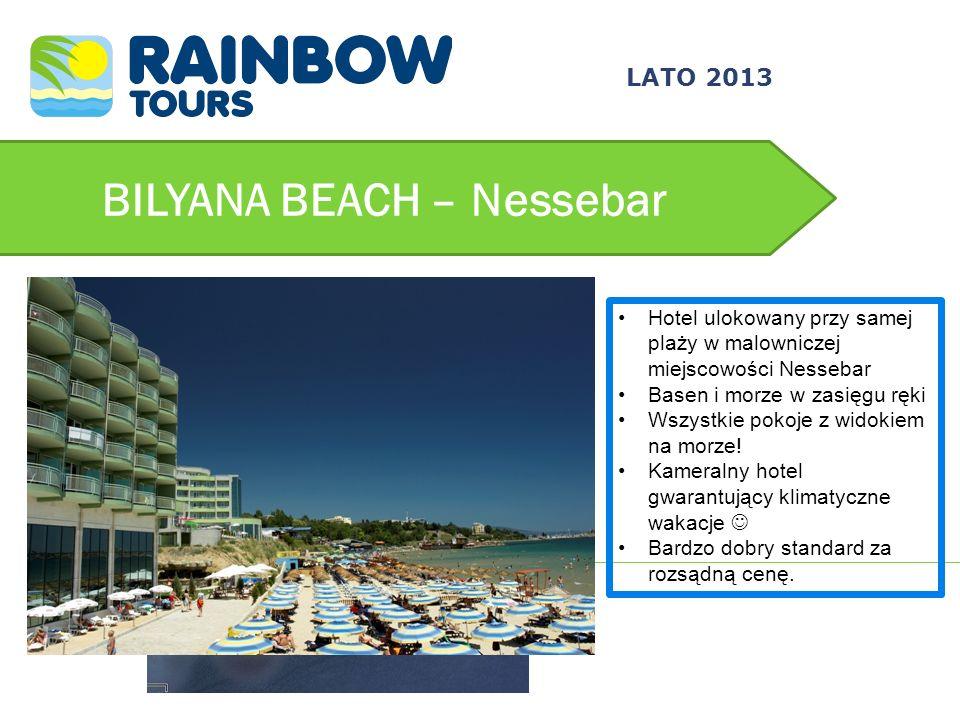 BILYANA BEACH – Nessebar Hotel ulokowany przy samej plaży w malowniczej miejscowości Nessebar Basen i morze w zasięgu ręki Wszystkie pokoje z widokiem