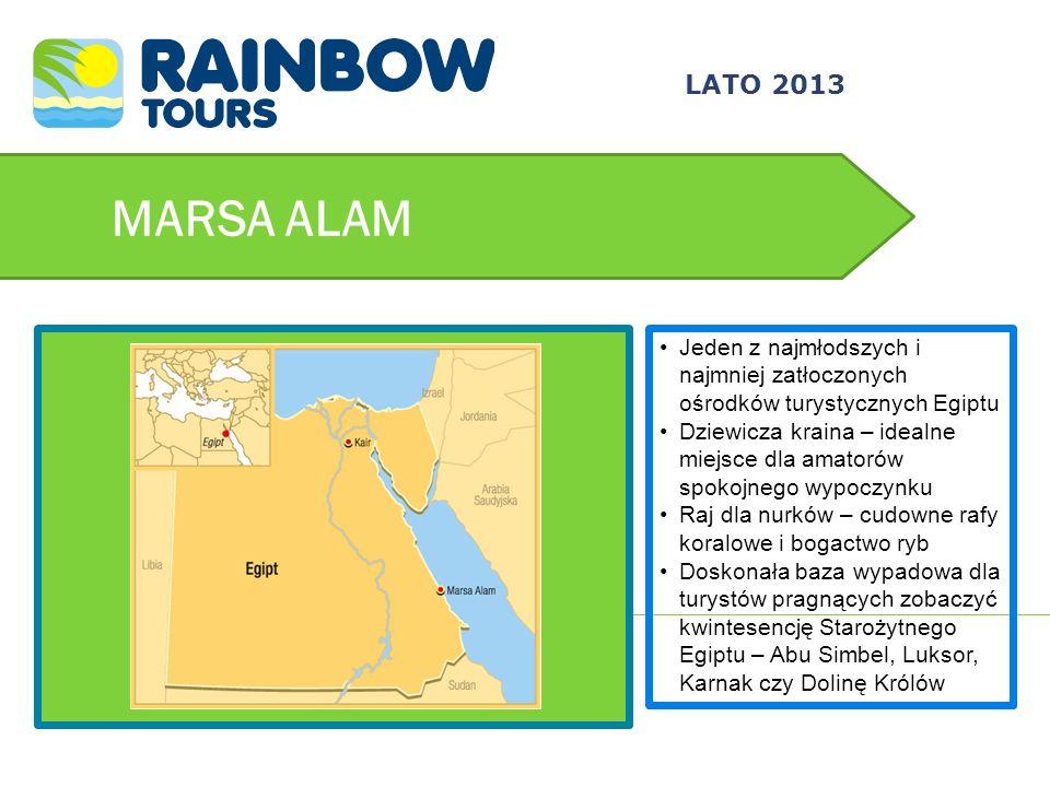 MARSA ALAM Jeden z najmłodszych i najmniej zatłoczonych ośrodków turystycznych Egiptu Dziewicza kraina – idealne miejsce dla amatorów spokojnego wypoc