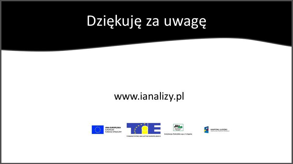 Dziękuję za uwagę www.ianalizy.pl