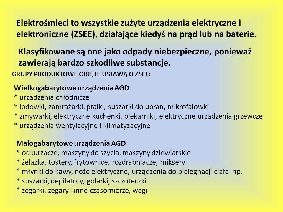 Elektrośmieci to wszystkie zużyte urządzenia elektryczne i elektroniczne (ZSEE), działające kiedyś na prąd lub na baterie. Klasyfikowane są one jako o