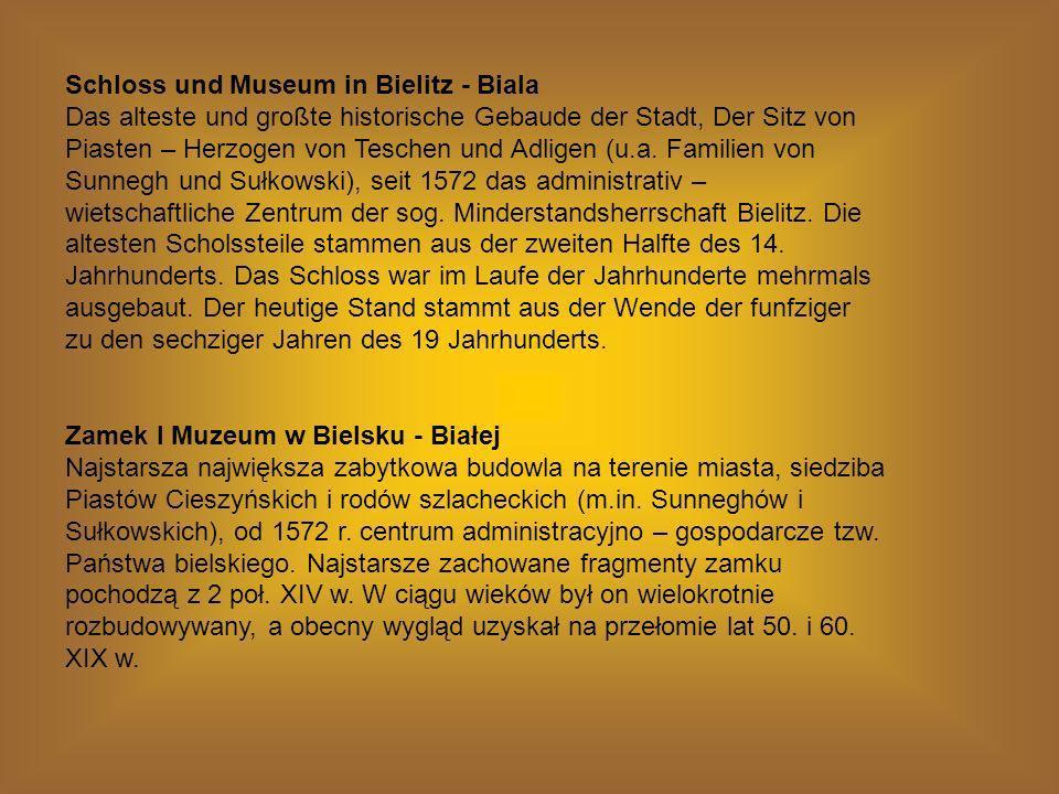 Schloss und Museum in Bielitz - Biala Das alteste und großte historische Gebaude der Stadt, Der Sitz von Piasten – Herzogen von Teschen und Adligen (u.a.