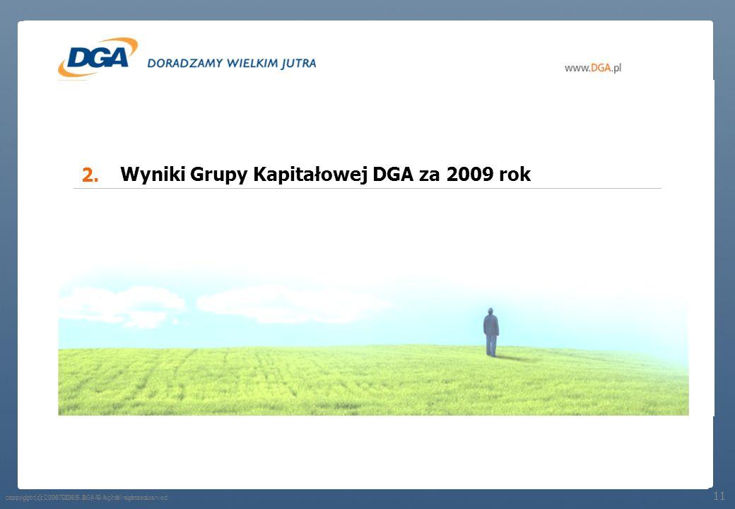 copyright (c) 2008 DGA S.A. | All rights reserved. Grupa Kapitałowa DGA na 31.12.2009 roku