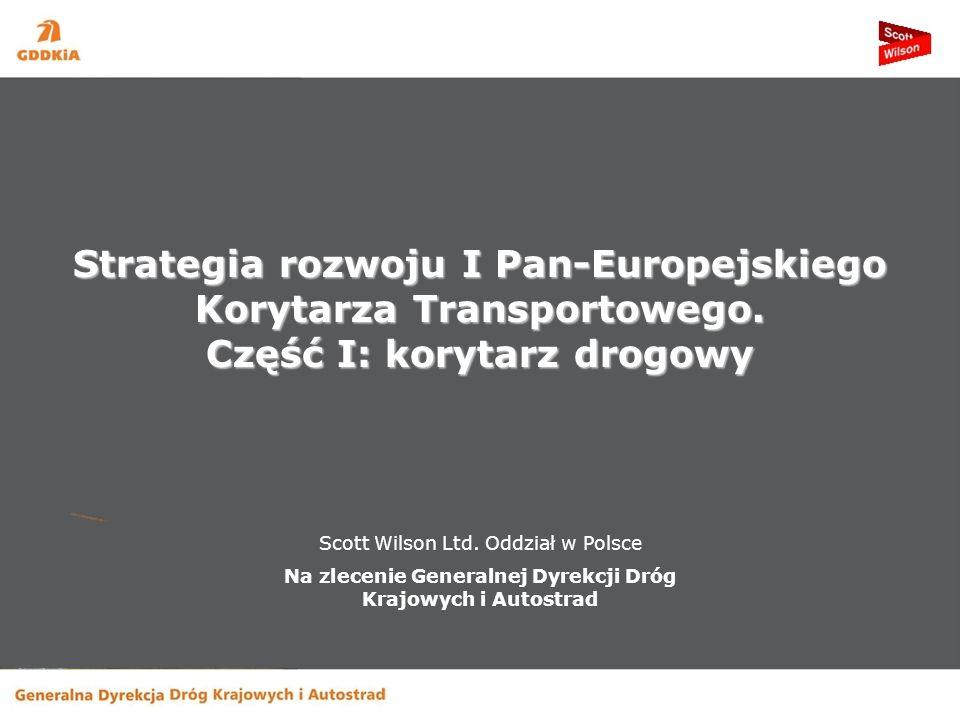 Scott Wilson Ltd. Oddział w Polsce Na zlecenie Generalnej Dyrekcji Dróg Krajowych i Autostrad Strategia rozwoju I Pan-Europejskiego Korytarza Transpor