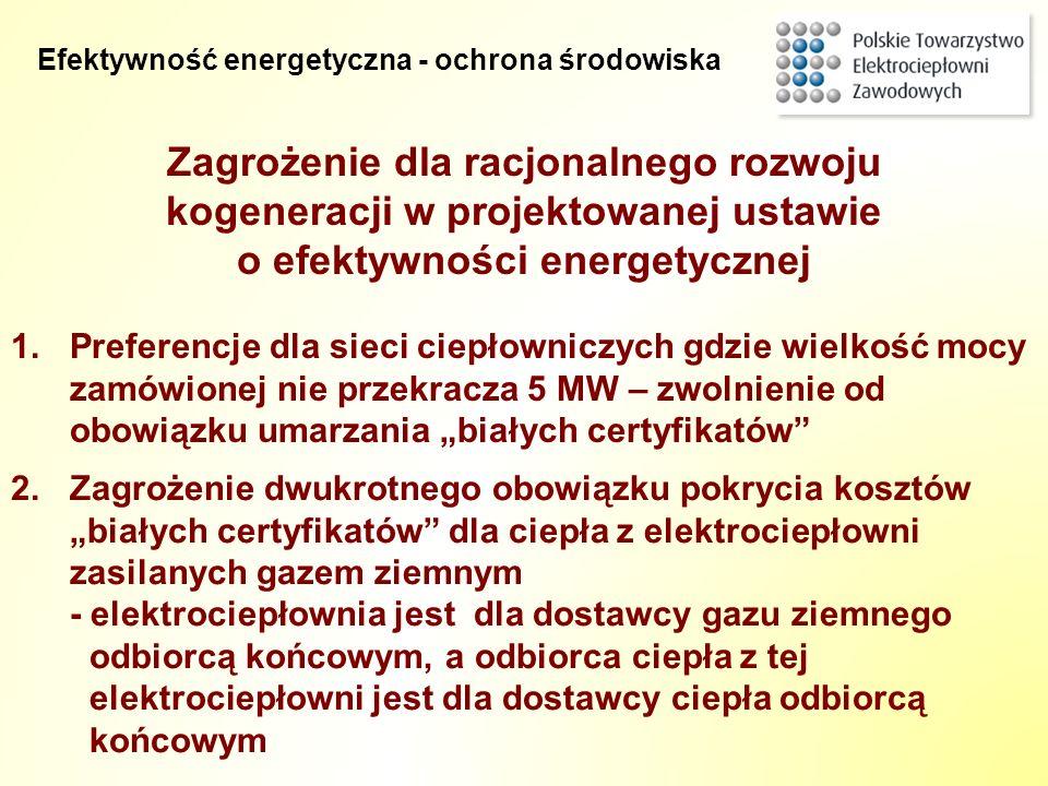 Zagrożenie dla racjonalnego rozwoju kogeneracji w projektowanej ustawie o efektywności energetycznej 2.Zagrożenie dwukrotnego obowiązku pokrycia koszt