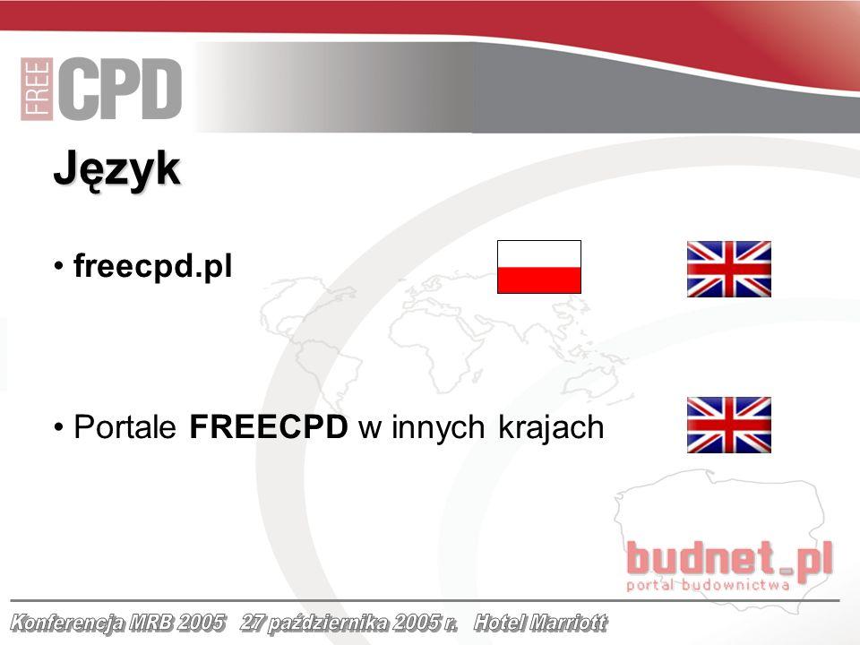 freecpd.pl Portale FREECPD w innych krajach Język