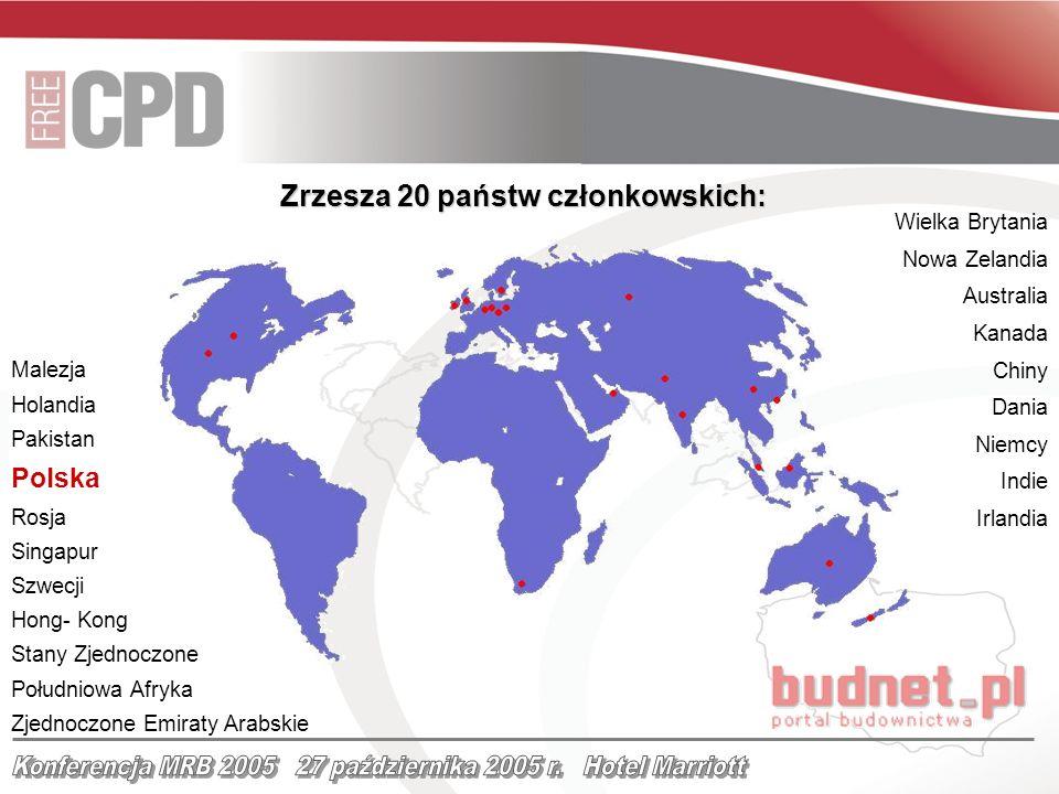 Wielka Brytania Nowa Zelandia Australia Kanada Chiny Dania Niemcy Indie Irlandia Zrzesza 20 państw członkowskich: Malezja Holandia Pakistan Polska Ros