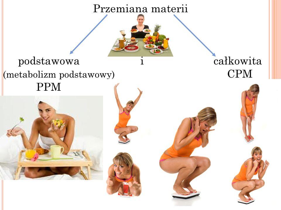 Przemiana materii podstawowa i całkowita (metabolizm podstawowy) CPM PPM