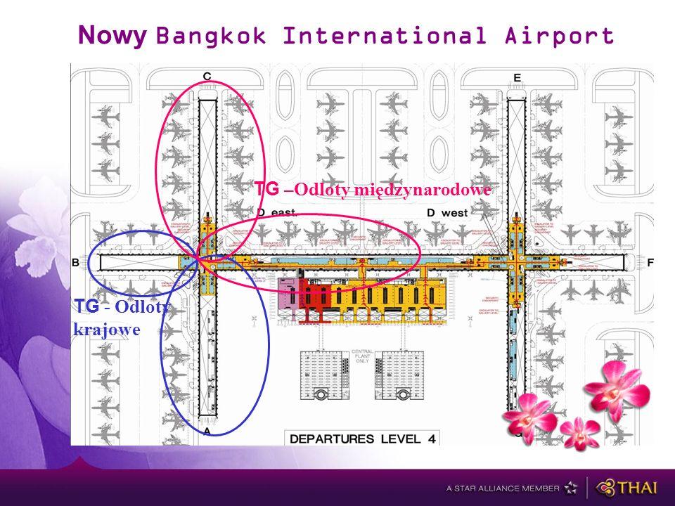 Nowy Bangkok International Airport TG –Odloty międzynarodowe TG - Odloty krajowe