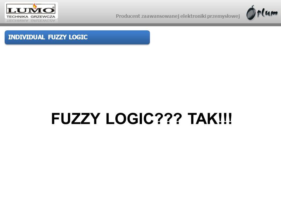Producent zaawansowanej elektroniki przemysłowej INDIVIDUAL FUZZY LOGIC FUZZY LOGIC??? TAK!!!