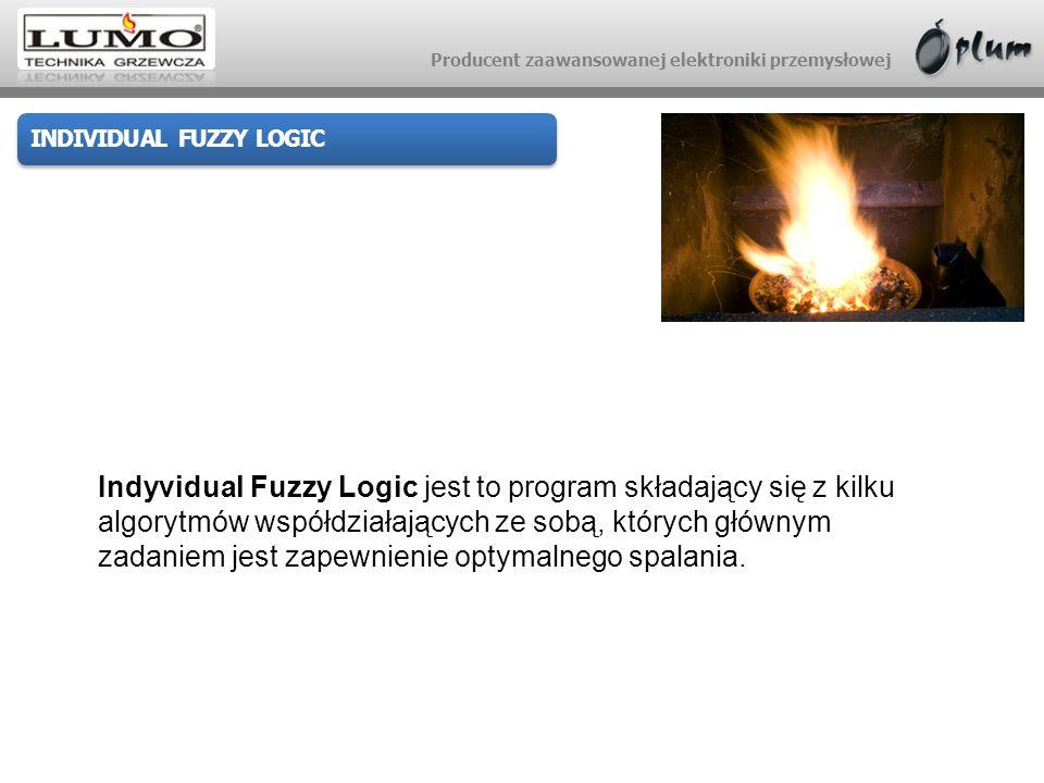 Producent zaawansowanej elektroniki przemysłowej INDIVIDUAL FUZZY LOGIC Indyvidual Fuzzy Logic jest to program składający się z kilku algorytmów współ