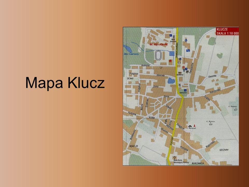 II Historia -Seweryn Boner, starosta rabsztyński, w swym opisie ziemi olkuskiej wspomina, że nazwa Klucze pochodzi od klucznika, niejakiego Janusza.
