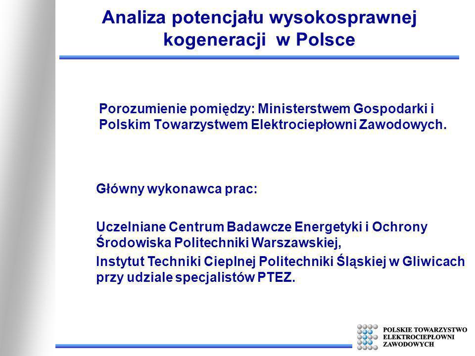Porozumienie pomiędzy: Ministerstwem Gospodarki i Polskim Towarzystwem Elektrociepłowni Zawodowych. Analiza potencjału wysokosprawnej kogeneracji w Po