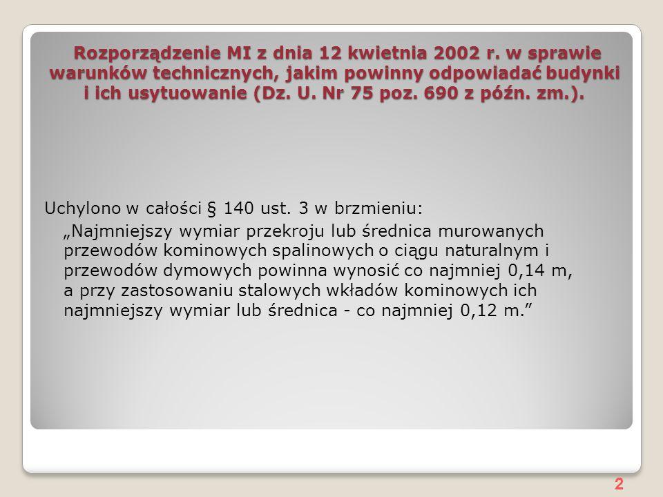 2 Rozporządzenie MI z dnia 12 kwietnia 2002 r.