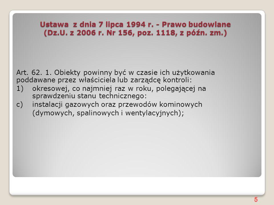 5 Ustawa z dnia 7 lipca 1994 r.- Prawo budowlane (Dz.U.