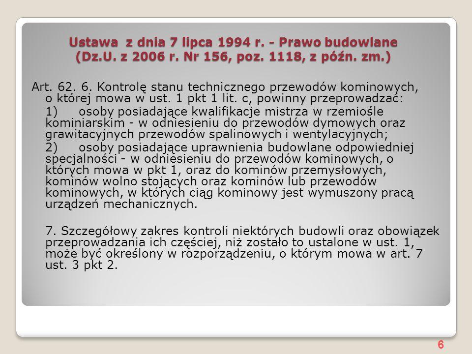 6 Ustawa z dnia 7 lipca 1994 r.- Prawo budowlane (Dz.U.