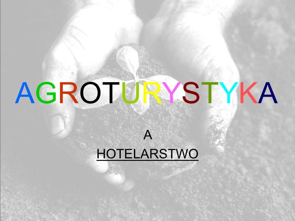 AGROTURYSTYKA A HOTELARSTWO