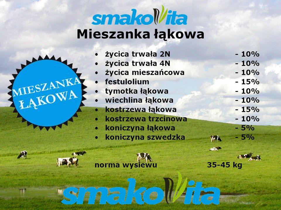 Z WARMII I MAZUR Sowul & Sowul Sp. z o.o. Mieszanka łąkowa życica trwała 2N - 10% życica trwała 4N - 10% życica mieszańcowa - 10% festulolium - 15% ty