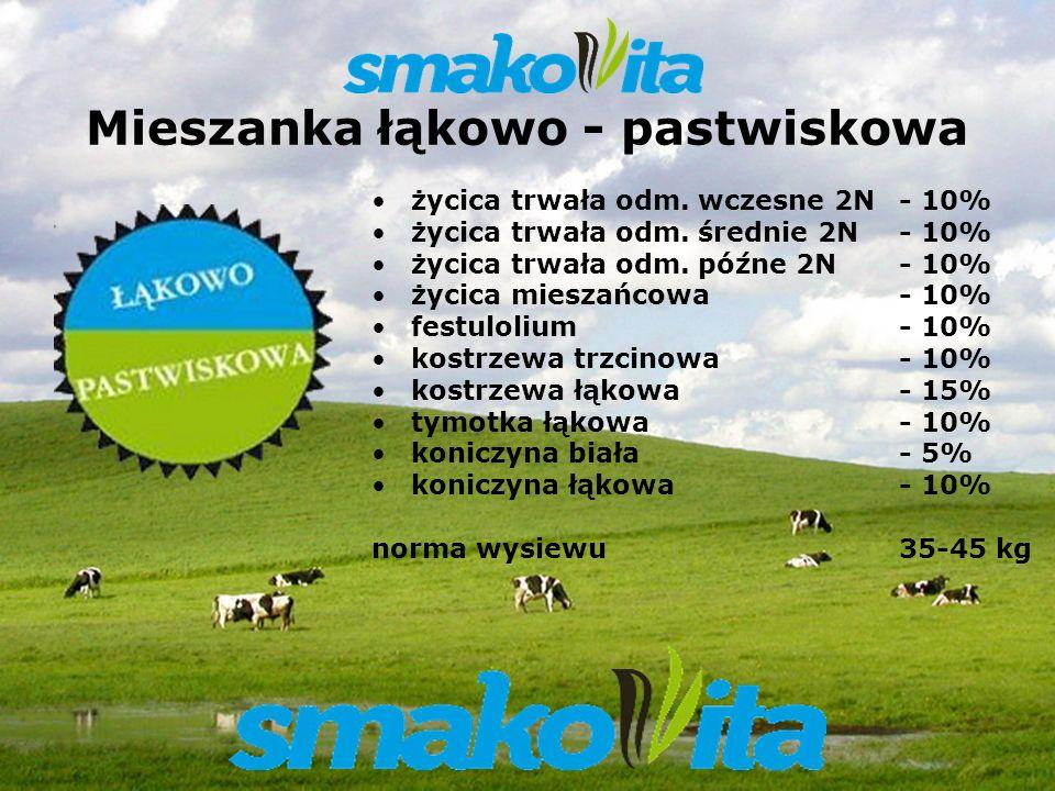 Z WARMII I MAZUR Sowul & Sowul Sp. z o.o. Mieszanka łąkowo - pastwiskowa życica trwała odm. wczesne 2N - 10% życica trwała odm. średnie 2N - 10% życic