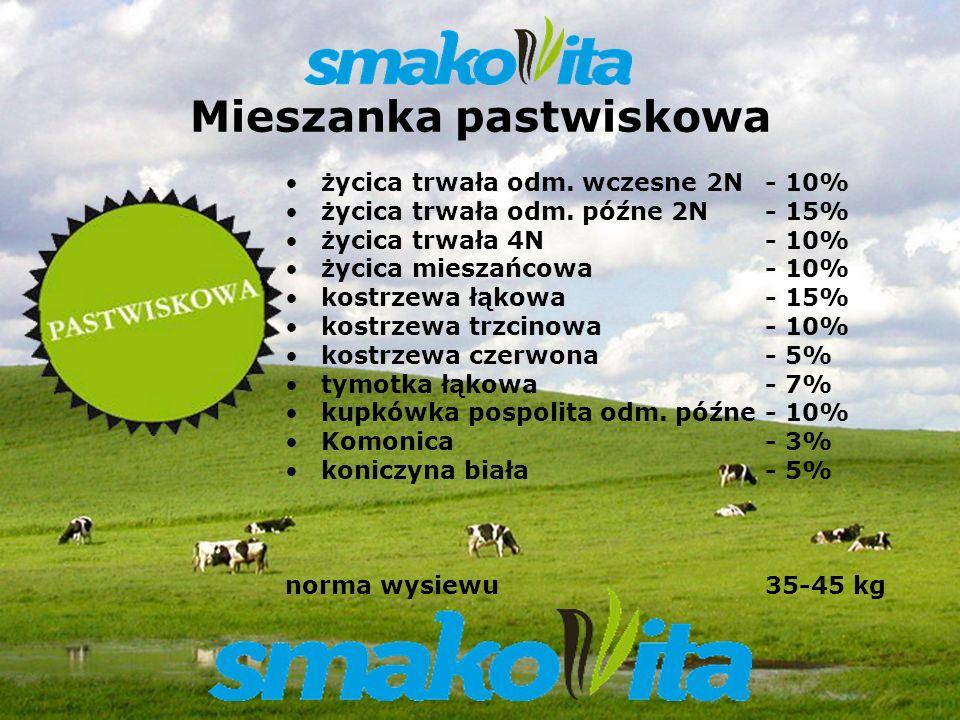 Z WARMII I MAZUR Sowul & Sowul Sp. z o.o. Mieszanka pastwiskowa życica trwała odm. wczesne 2N - 10% życica trwała odm. późne 2N - 15% życica trwała 4N