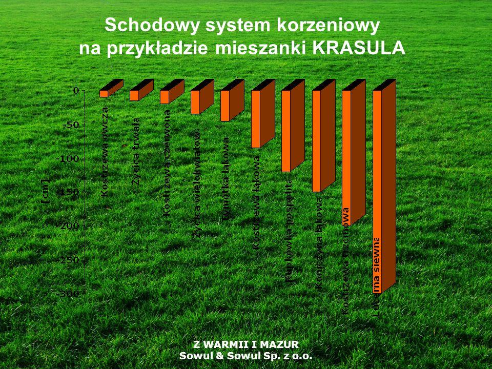 Z WARMII I MAZUR Sowul & Sowul Sp. z o.o. Schodowy system korzeniowy na przykładzie mieszanki KRASULA