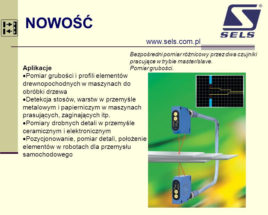 NOWOŚĆ www.sels.com.pl Aplikacje Pomiar grubości i profili elementów drewnopochodnych w maszynach do obróbki drzewa Detekcja stosów, warstw w przemyśl