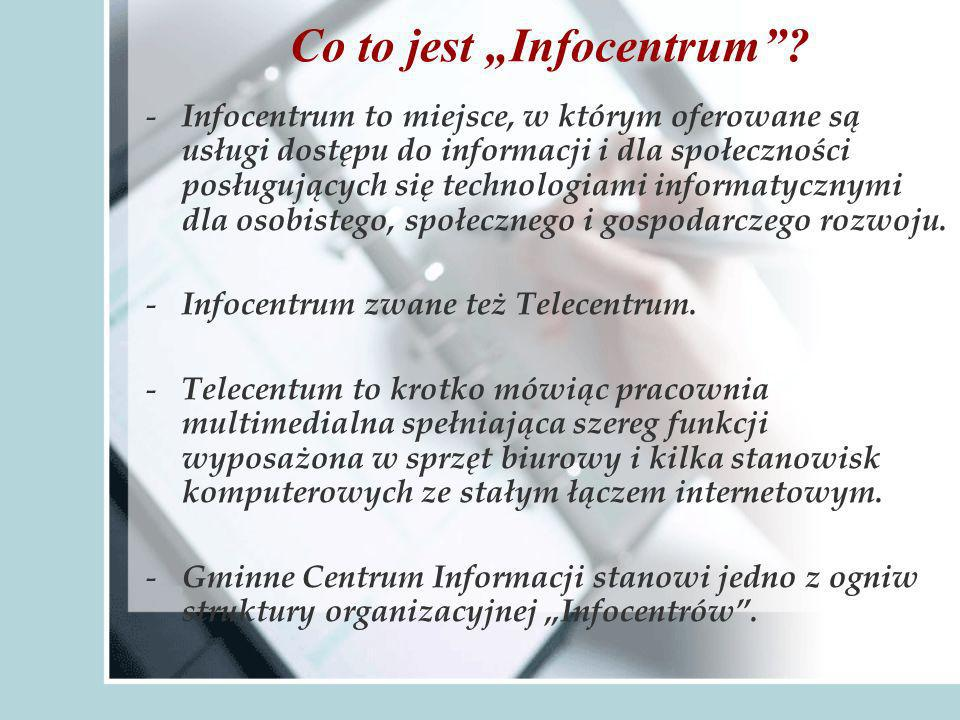 Co to jest Infocentrum.