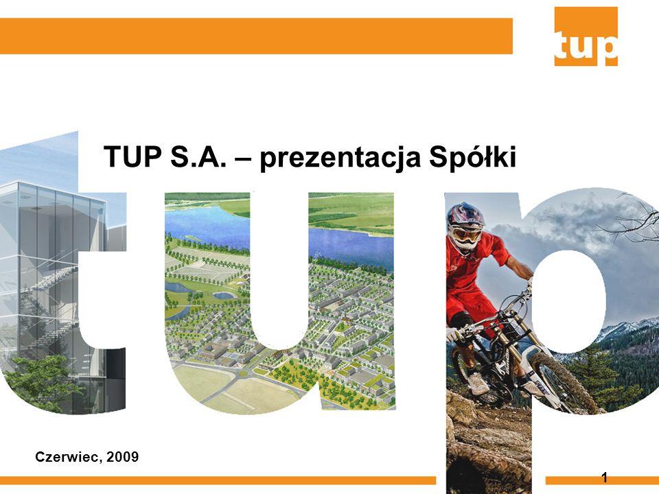 1 TUP S.A. – prezentacja Spółki Czerwiec, 2009
