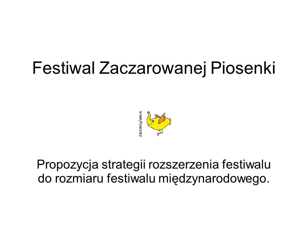 Festiwal Zaczarowanej Piosenki Propozycja strategii rozszerzenia festiwalu do rozmiaru festiwalu międzynarodowego.