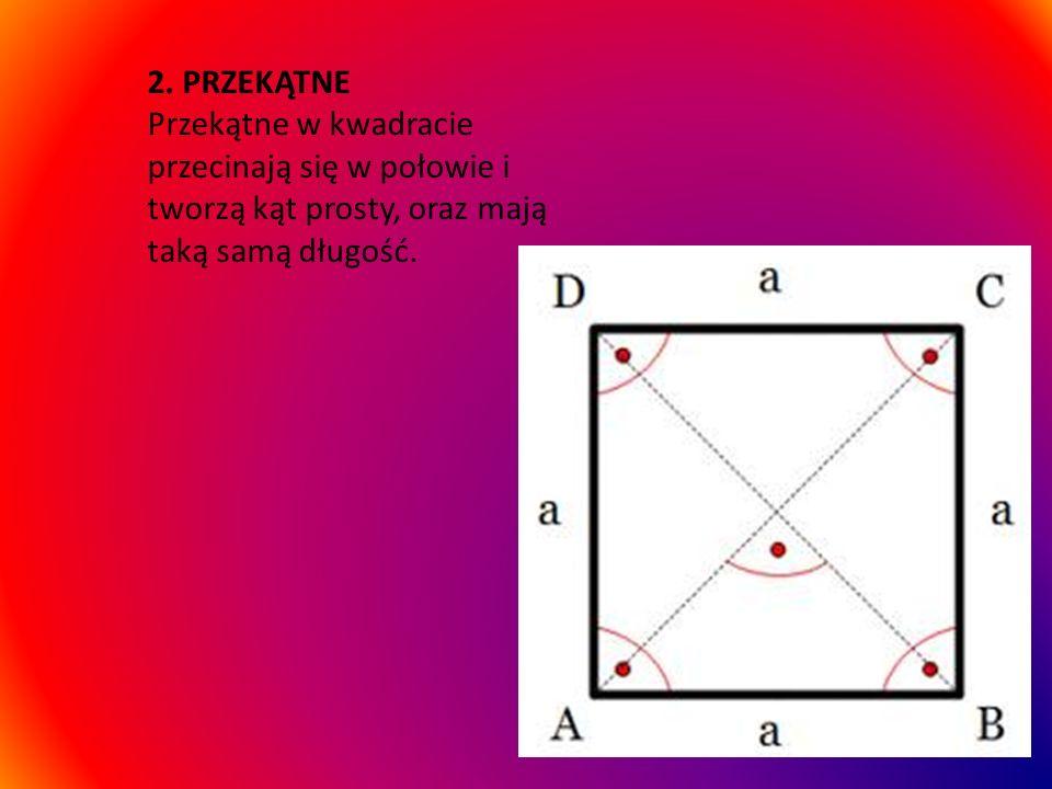 1.BOKI Kwadrat jest prostokątem. Jedną z niewielu różnic jest to, że ma wszystkie boki równe.